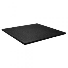 Sportboden - Fliese 100x100cm - 20mm - feine Körnung - Schwarz