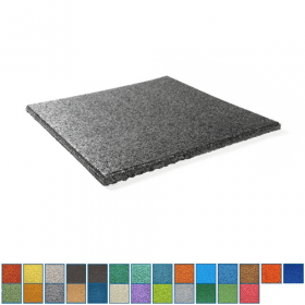 EPDM-Fallschutzmatte - 50x50cm - 25mm - UV-fest