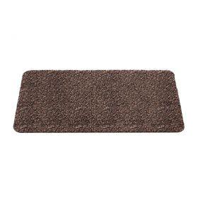 bruine wasbare mat