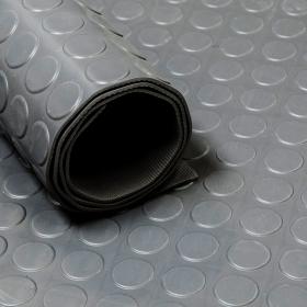 Gummiläufer grau, mit Noppen, geruchsneutral