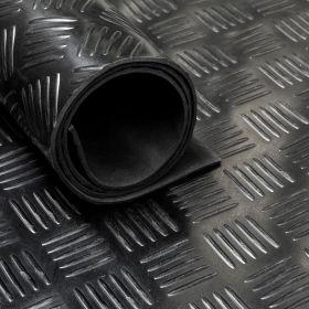 Gummimatte von der Rolle, Tränenblech Motiv 150 cm breit