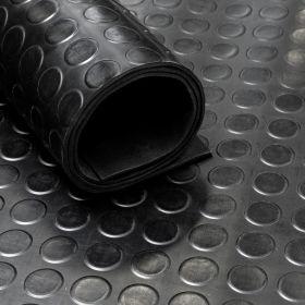 Gummiläufer / Gummimatte von der Rolle, Noppen, 120cm, 3 mm dick