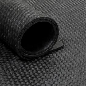 Gummiläufer von der Rolle, grober Hammerschlag, 200cm breit
