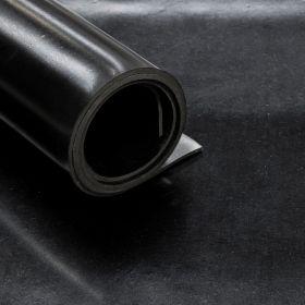 """SBR-Gummi """"Black Miami"""" - 5mm - 140cm x 10m Rolle - 14 m² - 2 Gewebe-Einlagen - REACH-konform"""