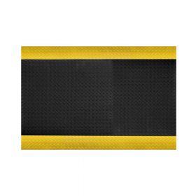 Ergonomische werkplaatsmat op rol - Aflopende gele rand - Breedte 60 cm - Dikte 15 mm
