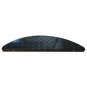 Stufenmatten Alu-Stufenmatte aus Riffelblech, Farbe Schwarz