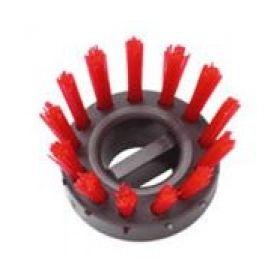 Bürsteneinsätze für Gummi-Ringmatte, rot – 10 Stück