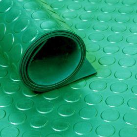 Rubber loper / rubbermat op rol Noppen 3mm groen - Breedte 120 cm - Geurloos