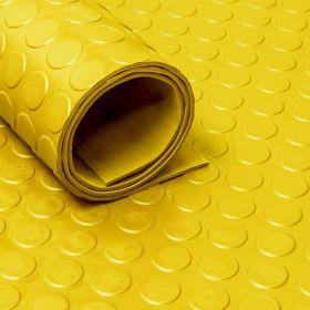 Rubber loper / rubbermat op rol Noppen 3mm geel - Breedte 120 cm - Geurloos