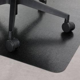 """PVC-Bürostuhlunterlage """"Hartboden"""" - Schwarz -  120  x 150 cm - Bodenschutzmatte für Hartböden"""
