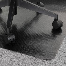 """PVC-Bürostuhlunterlage """"Teppich"""" - Schwarz -  120 x 150 cm - Bodenschutzmatte für Teppiche"""