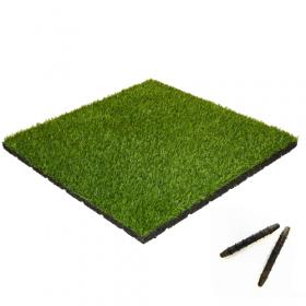 Kunstgras -Fliesen 50x50 cm, 55m dick