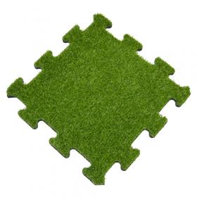 Kunstrasen Puzzle-Fliese Mittelstück