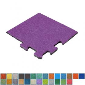 EPDM-Fallschutzmatte - Puzzle-System - Eckstück - 50x50cm - 50mm