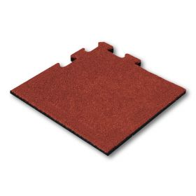 hoekstuk rubber tegel rood