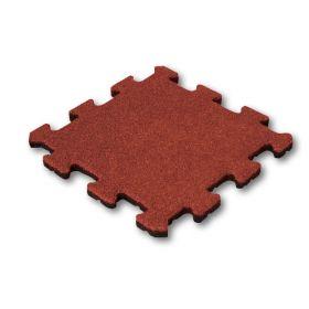 Puzzel tegel 25mm rood