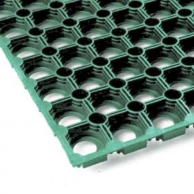 Gummi-Ringmatte - 100x150 cm - Grün - Ideal für Eis, Matsch und Schnee