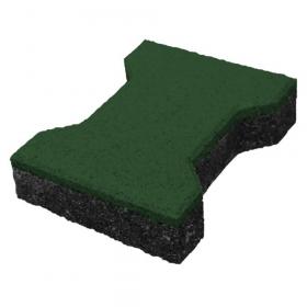 ⚠️ Gummiziegel - 43 mm - H-Form - Grün - Rutschfester Fallschutz-Bodenbelag für Sport-, Spielplatz & Stall