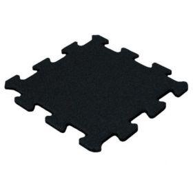 Gummi Puzzle Fliese 15 mm - 50x50cm - Schwarz - Feines Granulat