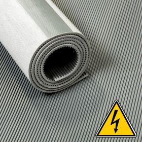 VDE-Isoliermatte - 30000 Volt - 3 mm - 100 cm - 10m-Rolle - Grau - ROHS & REACH