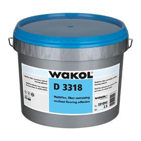 Wakol D3318 Multiflex - faserarmiert - 13kg - Dispersionsnassbettklebstoff für PVC und Sportboden