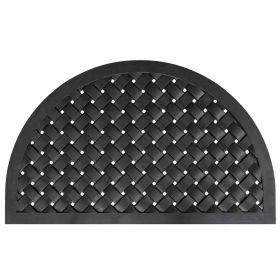 Gummi-Fußmatte Weaver - 56 x 91 cm - Halbrunde Türmatte - Wasserdurchlässig & rutschfest