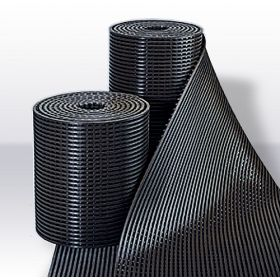 Yoga Roll rubber werkplaatsmat op rol / roostermat - 60 cm breed