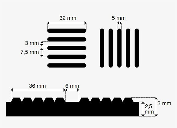 gummimatte odin tr nenblech 3mm 140cm meterware grau geruchsfrei f r innenr ume. Black Bedroom Furniture Sets. Home Design Ideas