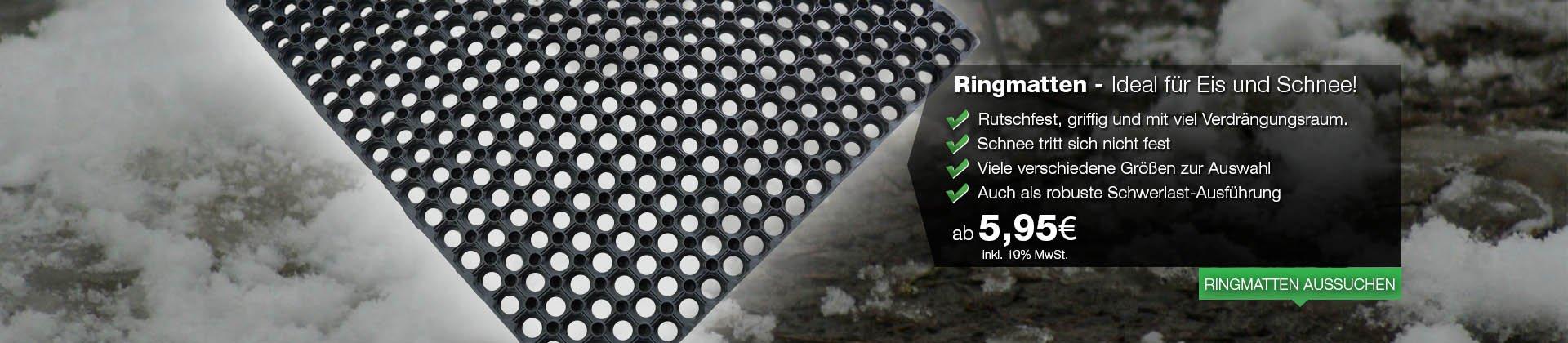 Gummimatten-Meterware von der Rolle in verschiedenen Materialien, Profilen, Stärken und Breiten